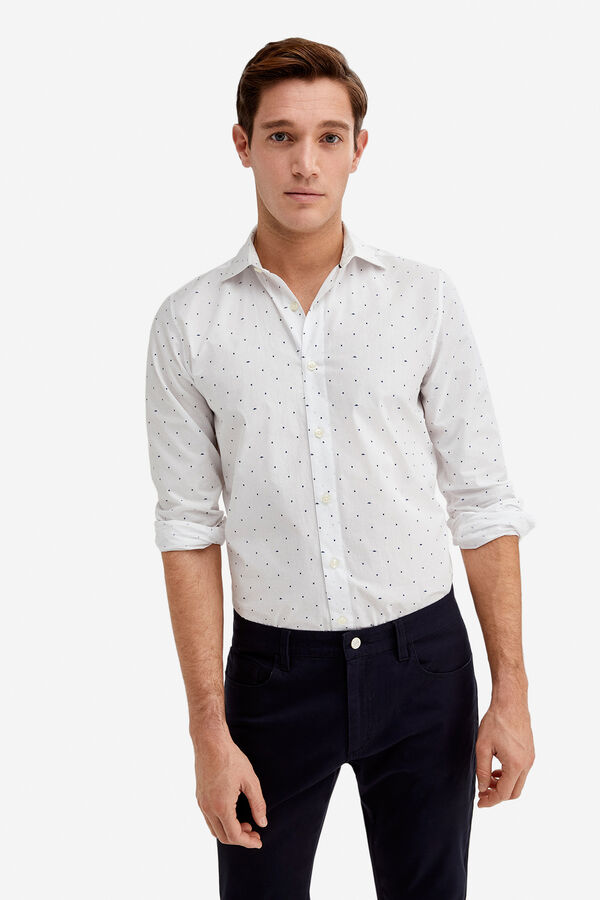 Fifty Factory Camisa popelin estampada Blanco · Comprar c2b298271ef63