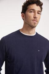 Fifty Outlet Jersey con logo a contraste Azul marino