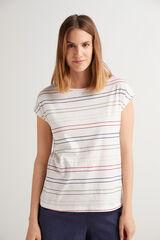 Fifty Outlet Camiseta punto de algodón Crudo
