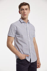 Fifty Outlet Camisa cuadros Blanco