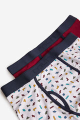 Fifty Outlet Pack boxers estampado Negro
