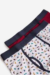 Fifty Outlet Pack boxers estampado preto