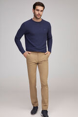 Fifty Outlet Pantalón chino stretch marrón