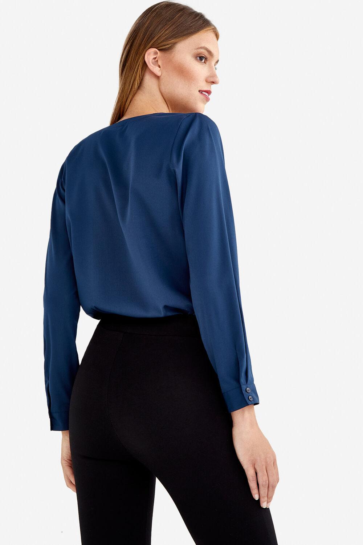 78aa4d8d8f Fifty Factory Blusa cuello mao Azul marino