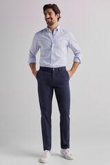 Fifty Outlet Pantalón chino estructura ligera Azul