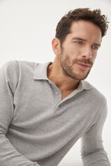 Fifty Outlet Jersey cuello polero Gris