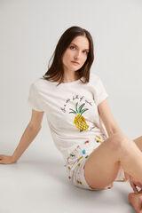 Fifty Outlet Pijama de algodón Crudo