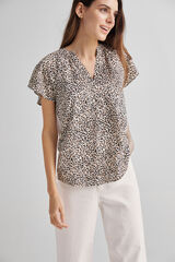 Fifty Outlet Blusa combinada Beige