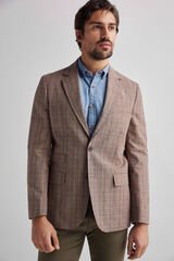 Fifty Outlet Blazer clássico xadrez marrón