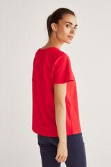 Fifty Outlet T-shirt canelada vermelho real