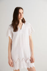 Fifty Outlet Vestido kaftan Blanco