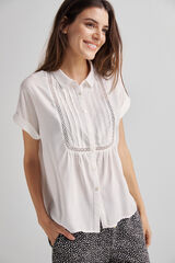 Fifty Outlet Blusa camisera jaretas Blanco