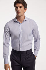 Fifty Outlet Camisa Microestructura Bicolor Azul