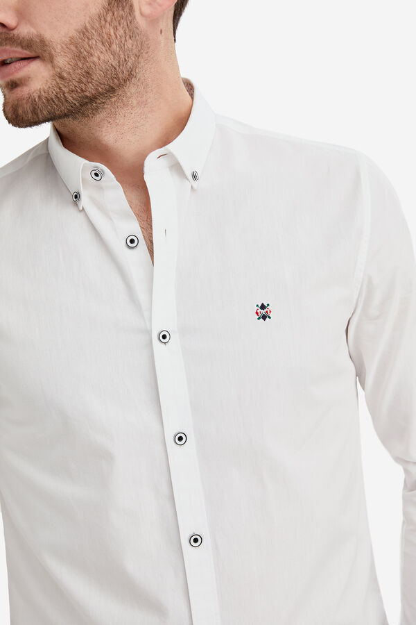 Fifty Factory Camisa popelin Blanco a5ba96e8e5ce3