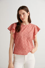 Fifty Outlet Blusa combinada Rosa