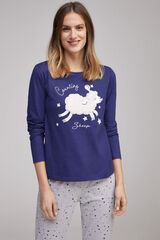 Fifty Outlet Pijama motivo oveja Azul marino