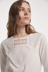 Fifty Outlet T-SHIRT SUSTENTÁVEL PLUMETTI cru