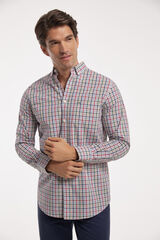 Fifty Outlet Camisa Chambray cuadros Azul