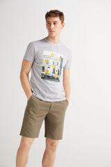 Fifty Outlet Camiseta cuello redondo Gris plomo