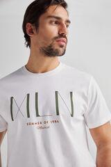 Fifty Outlet Camiseta estampada brandy Blanco