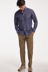 Fifty Outlet Camisa Chambray Lisa Azul