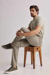 Fifty Outlet Pantalon chino pdh Beige