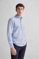 Fifty Outlet Camisa Polo Lino Azul marino