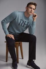 Pedro del Hierro Sweatshirt gola caixa Bordeaux
