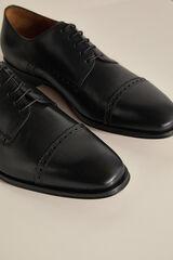 Pedro del Hierro Zapato piel cordones y piso cuero Negro