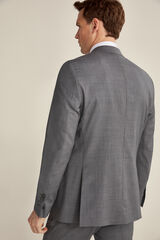 Pedro del Hierro Americana cuadro gris tailored fit Gris