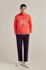 Pedro del Hierro Sweatshirt gola semicisne fecho-éclair Vermelho
