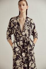 Pedro del Hierro Kimono estampado reversible Gris