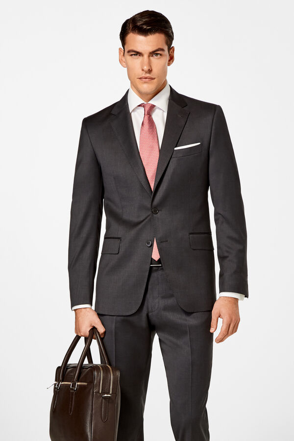 37186af1c Pedro del Hierro Americana lisa tailored fit Gris. Comprar