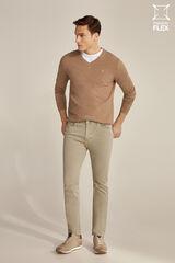 Pedro del Hierro Pantalón 5 bolsillos color premium flex slim Beige