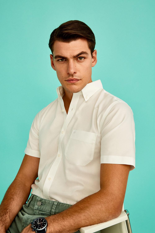 Pedro del Hierro Camisa manga corta non-iron lisa Blanco · Comprar ba14151c8e63