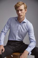 Pedro del Hierro Camisa de vestir botões de punho Tech-Non Iron tailored Azul