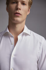 Pedro del Hierro Camisa de vestir botões de punho Tech-Non Iron tailored Branco
