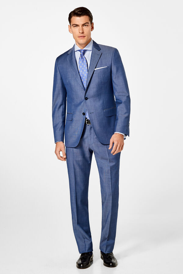 c14a292ef4 Pedro del Hierro Americana lana mohair tailored fit Azul
