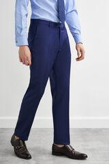 Pedro del Hierro Pantalón traje azul tailored fit Azul