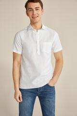Pedro del Hierro Camisa polo manga curta lisa Branco
