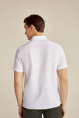 Pedro del Hierro Camisa manga curto linho  Branco