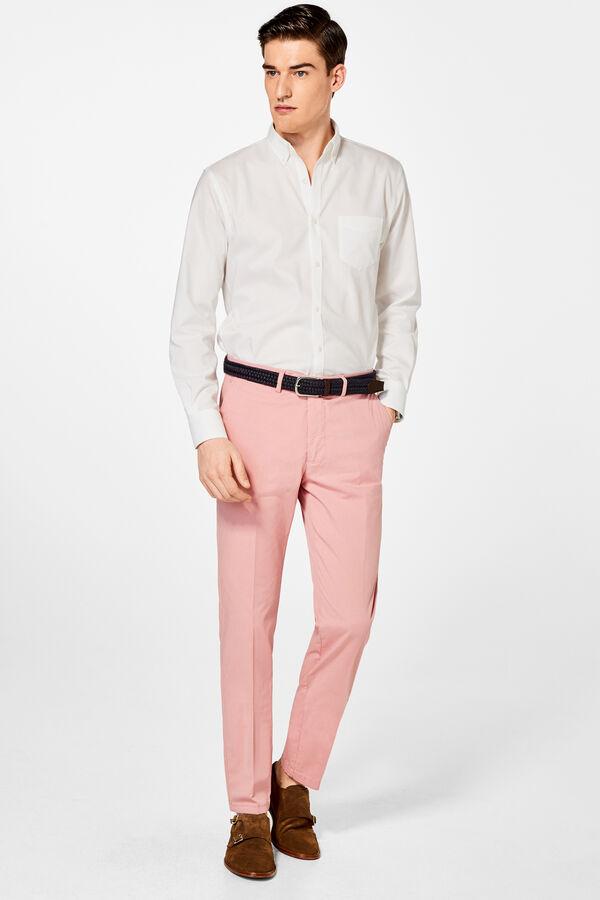 4426889d8fb Pedro del Hierro Pantalón chino pima tailored fit Rosa