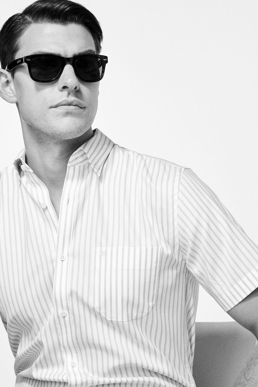 Pedro del Hierro Camisa manga corta non-iron rayas Rosa. Comprar 3d91cee4e811