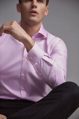 Pedro del Hierro Camisa de vestir tech-non iron estrutura tailored Rosa