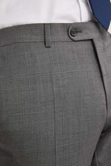 Pedro del Hierro Pantalón cuadro gris tailored fit Gris