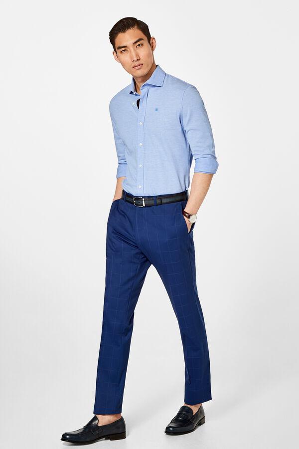 08be3076a5c90 Pedro del Hierro Pantalón cuadro azulón tailored fit Azul