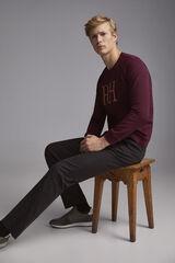 Pedro del Hierro Sweatshirt gola caixa  Vermelho