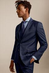 Pedro del Hierro Americana traje cuadros slim fit Azul
