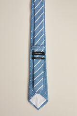 Pedro del Hierro Gravata linho - algodão taupe Azul