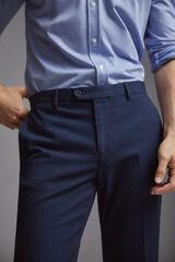 Pedro del Hierro Pantalón fácil plancha fantasía regular fit Azul